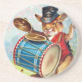 Clapsaddle: Drumming Rabbit Coaster
