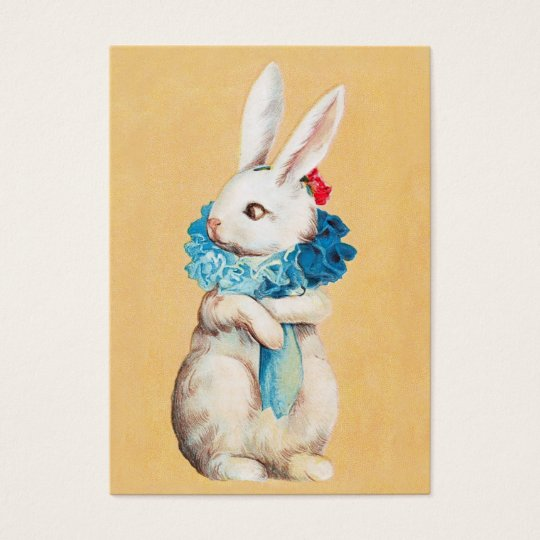 Clapsaddle: Easter Bunny Girl with Ruff Business Card