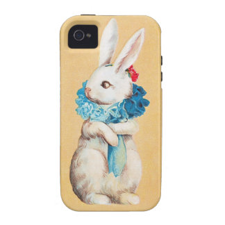 Clapsaddle: Easter Bunny Girl with Ruff Vibe iPhone 4 Cover
