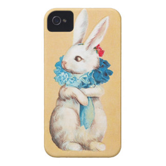 Clapsaddle: Easter Bunny Girl with Ruff iPhone 4 Cases