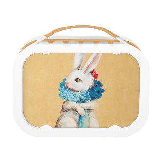 Clapsaddle: Easter Bunny Girl with Ruff Lunchboxes