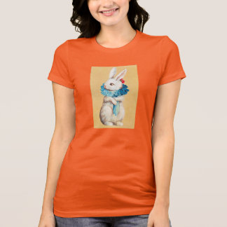 Clapsaddle: Easter Bunny Girl with Ruff T-Shirt