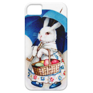 Clapsaddle: Easter Bunny Girl with Umbrella iPhone 5 Cover