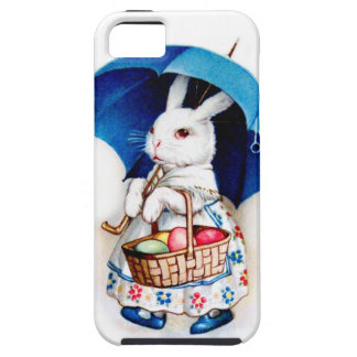 Clapsaddle: Easter Bunny Girl with Umbrella iPhone 5 Cases