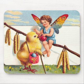 Clapsaddle: Easter Fairy with Chicken Mouse Pad