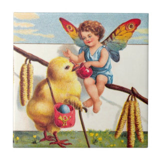 Clapsaddle: Easter Fairy with Chicken Tile