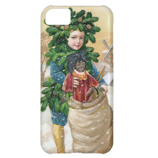 Clapsaddle Fir Boy with Doll Cover For iPhone 5C