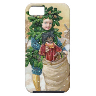 Clapsaddle: Fir Boy with Doll iPhone 5 Case