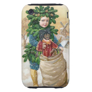 Clapsaddle: Fir Boy with Doll Tough iPhone 3 Cases