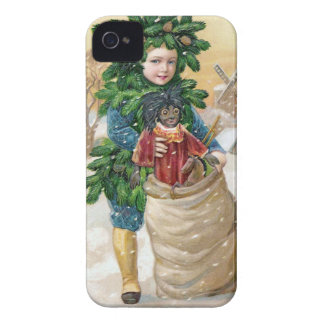 Clapsaddle: Fir Boy with Doll iPhone 4 Cases
