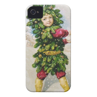 Clapsaddle: Fir Boy with Snowball iPhone 4 Case-Mate Case