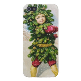 Clapsaddle Fir Boy with Snowball iPhone 5 Covers