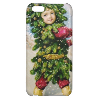 Clapsaddle Fir Boy with Snowball Cover For iPhone 5C