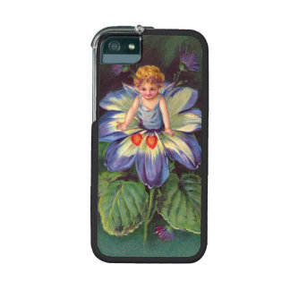 Clapsaddle Flower Cherub Aster iPhone 5/5S Cover
