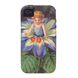 Clapsaddle: Flower Cherub Aster Case-Mate iPhone 4 Cover