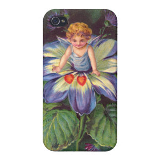 Clapsaddle: Flower Cherub Aster Case For iPhone 4