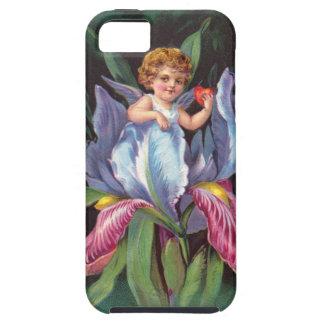 Clapsaddle: Flower Cherub Iris iPhone 5 Covers