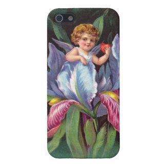 Clapsaddle: Flower Cherub Iris iPhone 5/5S Covers