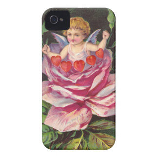 Clapsaddle: Flower Cherub Rose iPhone 4 Cover