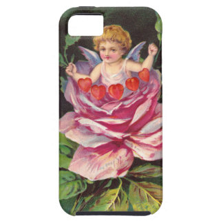 Clapsaddle: Flower Cherub Rose iPhone 5 Cover
