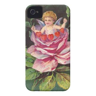 Clapsaddle: Flower Cherub Rose Case-Mate iPhone 4 Case