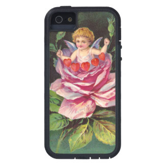 Clapsaddle: Flower Cherub Rose iPhone 5 Covers