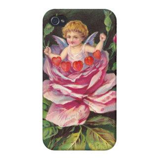 Clapsaddle: Flower Cherub Rose iPhone 4/4S Case