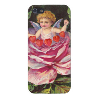 Clapsaddle: Flower Cherub Rose iPhone 5/5S Covers
