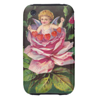 Clapsaddle: Flower Cherub Rose Tough iPhone 3 Covers