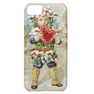 Clapsaddle: Holly Boy with Heart iPhone 5C Cover