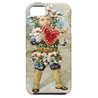 Clapsaddle: Holly Boy with Heart iPhone 5 Cases