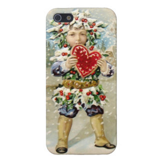 Clapsaddle Holly Boy with Heart iPhone 5 Case