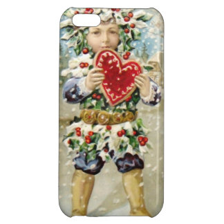 Clapsaddle: Holly Boy with Heart iPhone 5C Case