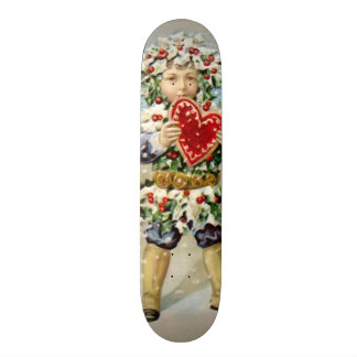 Clapsaddle: Holly Boy with Heart Skateboards