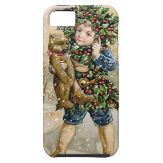 Clapsaddle: Holly Boy with Teddy iPhone 5 Cases