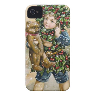 Clapsaddle: Holly Boy with Teddy Case-Mate iPhone 4 Cases