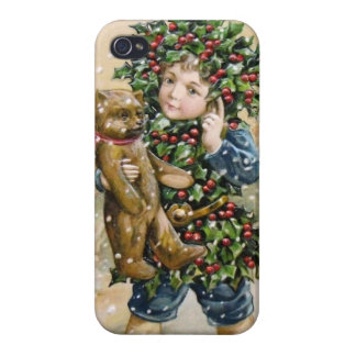 Clapsaddle: Holly Boy with Teddy iPhone 4/4S Case
