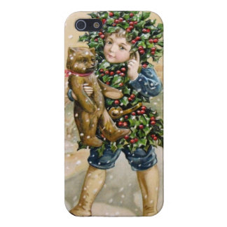 Clapsaddle Holly Boy with Teddy iPhone 5 Cases