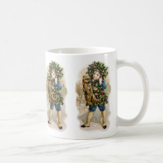 Clapsaddle: Holly Boy with Teddy Mugs