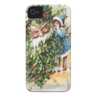 Clapsaddle: Holly Father iPhone 4 Cases
