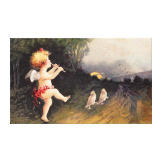 Clapsaddle: Little Cherub with Flute Canvas Prints