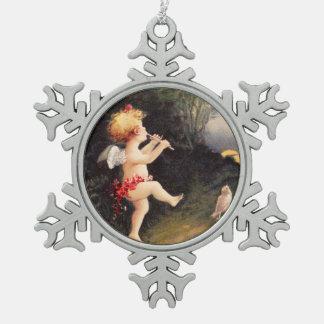 Clapsaddle Little Cherub with Flute Ornament