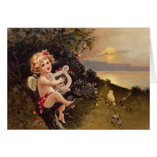 Clapsaddle: Little Cherub with Harp Card