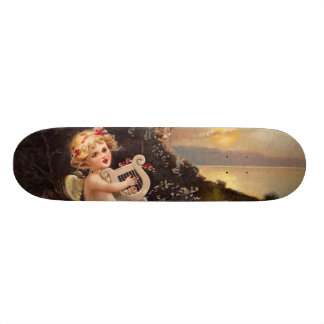 Clapsaddle: Little Cherub with Harp Skateboards