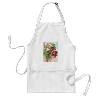 Clapsaddle: Mistletoe Father with Angels Standard Apron