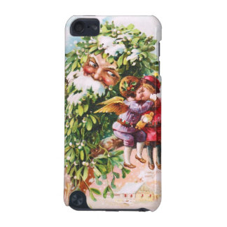 Clapsaddle Mistletoe Father with Angels iPod Touch (5th Generation) Covers