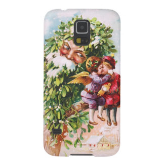 Clapsaddle: Mistletoe Father with Angels Galaxy S5 Cases