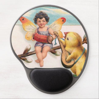 Clapsaddle: Music Making Easter Fairy Gel Mouse Mats