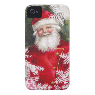 Clapsaddle: Santa Claus with Fir Twigs iPhone 4 Covers
