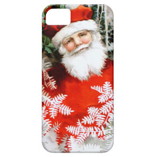 Clapsaddle: Santa Claus with Holly iPhone 5 Cover